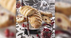 Panaderías Pastelerías Recetas a domicilios.com Pan de castañas y arándanos rojos